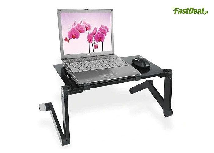 Wielofunkcyjny składany stolik pod laptop z podstawką pod mysz