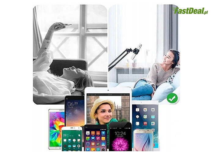 Uporządkuj biurko a także komfortowo korzystaj z telefonu, tabletu za sprawą wysięgnika biurkowego