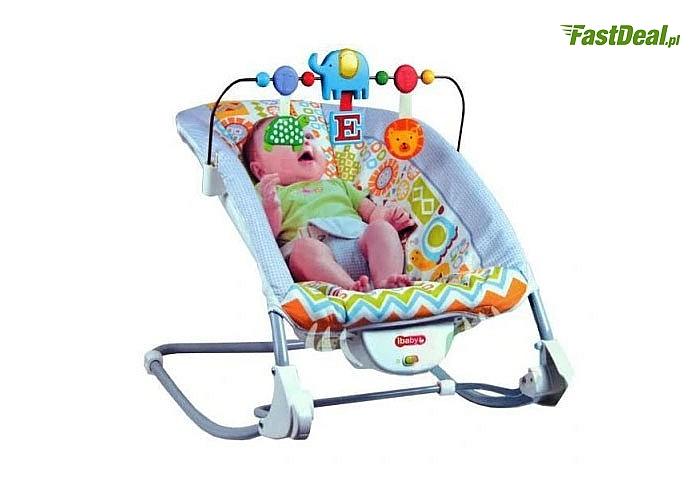 Bujaczek z wibracjami działa uspokajająco i kojąco na maluszka, przystosowany na odpoczynek, jak i drzemkę dziecka