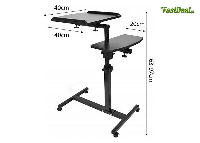 Wielofunkcyjne biurko na kółkach pod laptopa