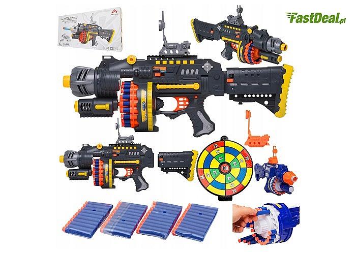 Karabin maszynowy wyrzutnia HERO NERF z nabojami to aktualny HIT wśród zabawek do bezpiecznego strzelania