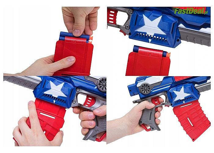 Karabin maszynowy HERO NERF z piankowymi strzałkami z taką bronią wygrasz każdą bitwę