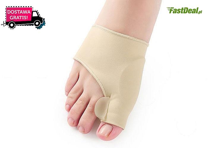 Ochrona na halluksy z elastycznej dzianiny! Zapobiega nachodzeniu na siebie palców i podwijaniu się małego palca!