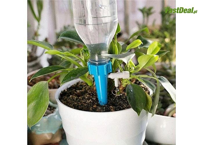 Nawadniacz kropelkowy jest idealny dla kwiatów, warzyw i ziół doskonale sprawdzi się podczas twojego urlopu