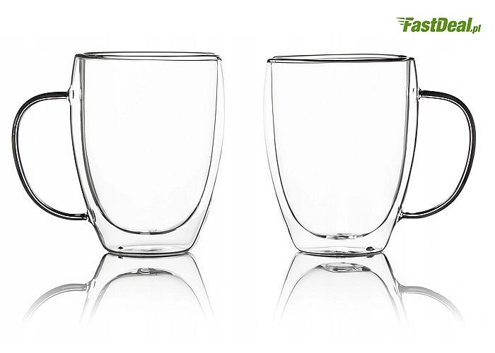 6 szklanek termicznych! Pojemność 350 ml! Łyżeczki w zestawie!