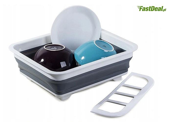 Składana suszarka do naczyń jest niezbędnym elementem wyposażenia w każdej kuchni, ale także sprawdzi się na campingu