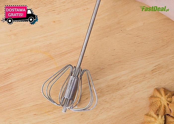 Półautomatyczna trzepaczka kuchenna usprawni przygotowanie posiłków