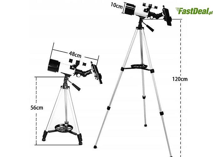 Uniwersalny teleskop astronomiczny luneta 70 mm 400 mm o ogromnym potencjale obserwacyjnym