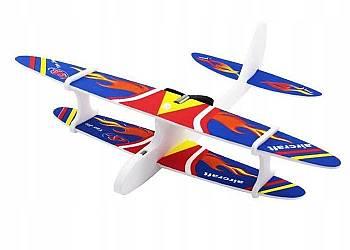 Piankowy Samolot Dwupłatowiec z wbudowanym akumulatorem