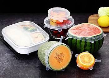Silikonowe pokrywki na żywność