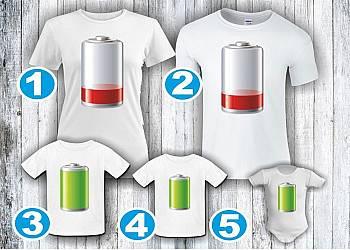 Rodzinne koszulki - baterie
