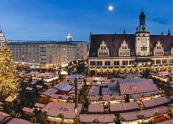 Świąteczny jarmark w Lipsku