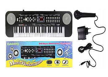 Keyboard z mikrofonem
