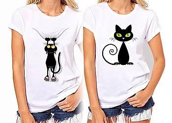 Kocia koszulka damska