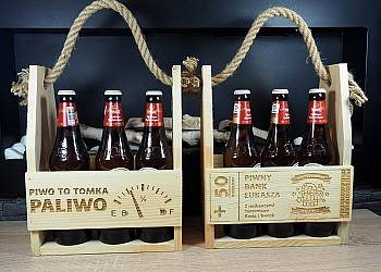 Nosidełko na piwo z grawerem