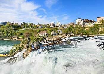 Wodospad Rheinfall i Wyspa Mainau
