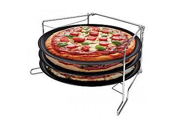 Zestaw trzech blach do pizzy