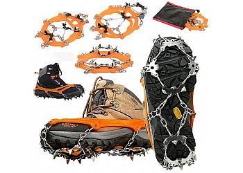 Łańcuchy z kolcami na buty